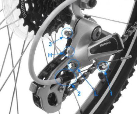 как настроить переключение скоростей на велосипеде фото