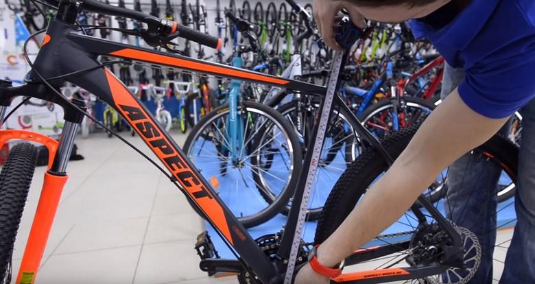 измерение размера рамы горного велосипеда фото 1